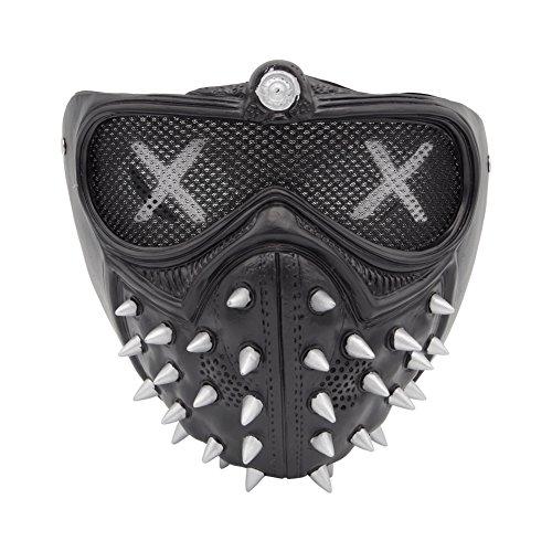 Herren Cosplay Nieten Maske Kostüm Zubehör Für Halloween Party (Black Dog Kostüm Für Erwachsene)