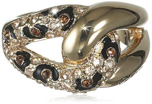 Guess Damen-Ring Metalllegierung Glas Weiß UBR51422
