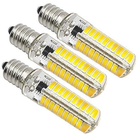 ZEEFO 3pcs E14 Ampoules LED Remplacement A l'halogène, Petite Ampoule Edison , 5W LED Ampoule, 3000K Blanc Chaud 420LM 220V 5730 SMD, Dimmable Ampoule led.