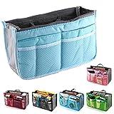 fenguh pour Blue Voyage Femmes Sac de l'organisateur de la doublure Tidy Travel Organizer sac Pouch Bag in Bag Insert Organiseur Pocket Cosmetic -- Bleu