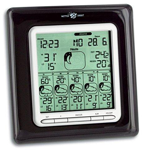 TFA Dostmann Stella Max satellitengestützte Funk-Wetterstation, mit Wetterdirekt Technologie, Profi-Wetterprognose für 6 Tage, Reisewetter, lokale Außentemperatur