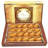 Ghasitaram Gifts Holi Sweets-Ghasitaram's Dry Sweet Wheat Gujiya 600 GMS