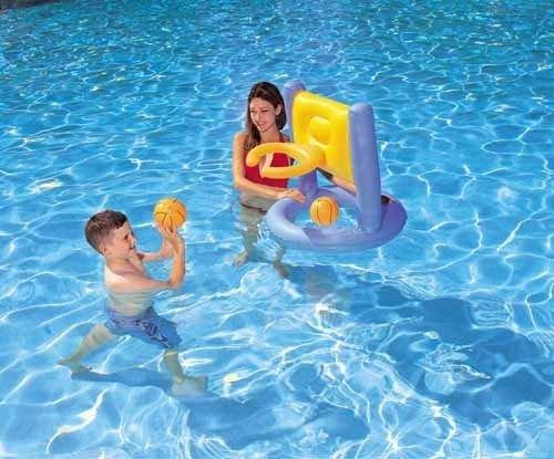Bestway 52043 canestro gonfiabile per piscina gioco bambino basket