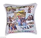 """Personalized Square Pillow & Cover, Both Side Printing - 13"""" x 13"""" - Customize with Your Photos & Messages"""
