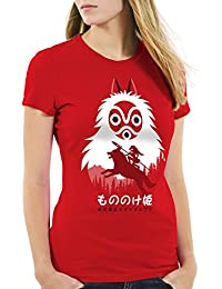 style3 Mononoké Hime T-Shirt Femme loup princesse anime