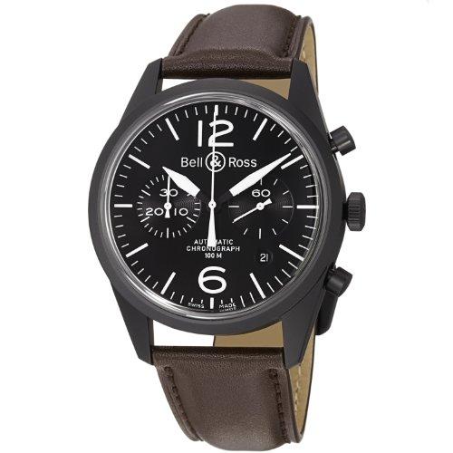 Bell y Ross Vintage brv123-bl-ca/SCA–Reloj de acero inoxidable para hombre FECHA reloj