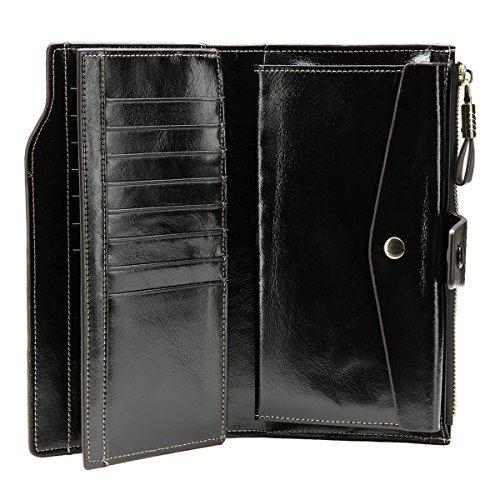 Zoom IMG-3 portafoglio donna in pelle rotezione