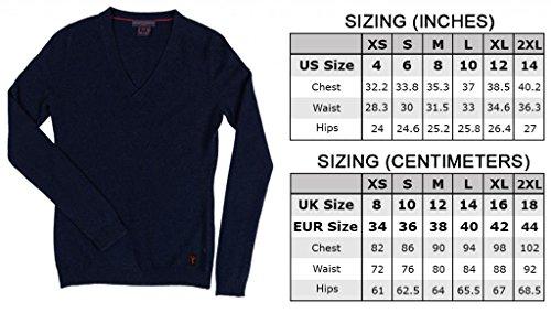 Damen V - Ausschnitt Pullover - 100% Kaschmir - Citizen Cashmere Marineblau