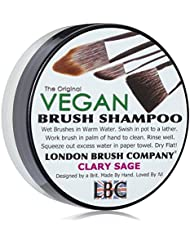 LONDON BRUSH COMPANY Vegan Young Coconut Milk Shampooing Solide pour Pinceau de Maquillage Clary Sage