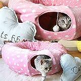 Starter Cat tunnel giocattolo–Gatto giocattolo da gioco parco giochi Resting multiuso pieghevole lavabile gatto giocattolo per molti di gatto felice giocare