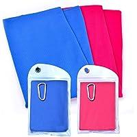 Multicolore raffreddamento asciugamano freddo asciugamani confezione da 2–4-6, Red+Blue