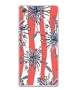 Fuson Designer Back Case Cover for Sony Xperia M4 Aqua :: Sony Xperia M4 Aqua Dual (Crackers Rocket Stars Bombs Lights)
