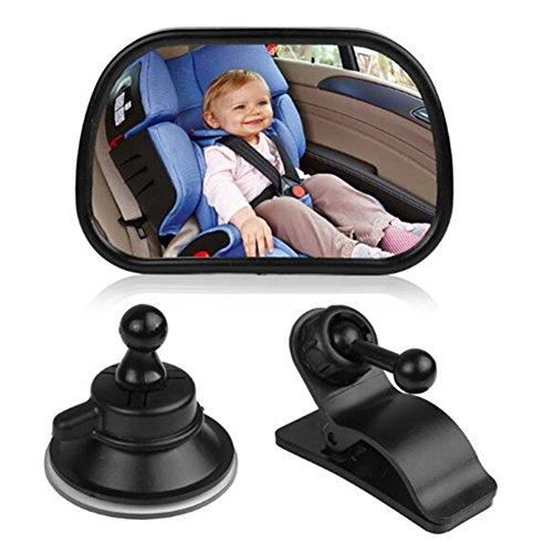 Auto Baby Spiegel Einstellbare Rückspiegel für Babyschalen Mit Saugnäpfe und Klammer