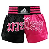 Short boxe thaï Adidas noir / rose ADISTH03 - Noir / Rose, S
