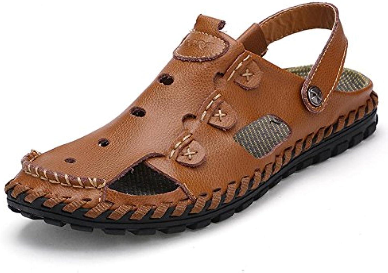 Männer Leder Sandalen handgefertigte Wasser Schuhe langlebig aber weissh Mode und komfortabel