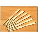 Lot de 100 fourchettes en bois à apéritif 9 cm