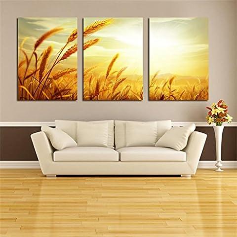 Paesaggio pastorale pittura moderna della parete del salone della pittura della decorazione Ristorante Hanging Pittura Sala da pranzo pittura Tripla