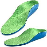 Ailaka Kids Orthotic Arch Support Shoe Insoles, Children PU Foam Cushioning Inserts for Flat feet, Plantar Fasciitis, Feet Heel Pain Relief, Green, Junior UK 3-5 / EU 36-38