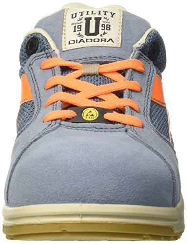 Diadora D-Jump Low S1p Esd, Scarpe da Lavoro Unisex-Adulto Blu (Blu Denim Sbiadito/Arancio Flame)