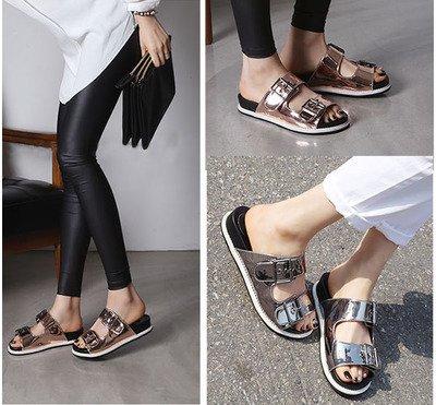 ZYUSHIZ L'été des sandales Nouvelle Version coréenne Chaussons Femme 37EU