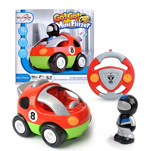 ferngesteuertes auto fuer 2 jaehrige Maximum RC - RC Auto für Kleinkinder - abschaltbare Sound- und Musikeffekte - RC Auto für Kinder ab 3 Jahren