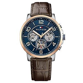 Reloj para hombre Tommy Hilfiger 1791290, mecanismo de cuarzo, diseño con varias esferas, correa de piel.