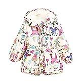 ragazze capretti dei giacca - TOOGOO(R) neonate rivestimento casuale Outerwear ragazze di inverno cappotto bambini caldo in pile che coprono i bambini Giacche per le bambine cardigan 5T = 110CM