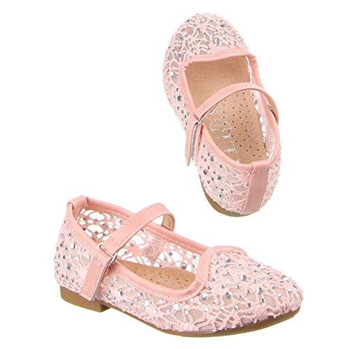 Kinder Schuhe, F-73, BALLERINAS Rosa