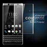 #7: Brain Freezer J Full Screen Coverage 3D Curved Edge Tempered Glass for BlackBerry KeyOne Clear