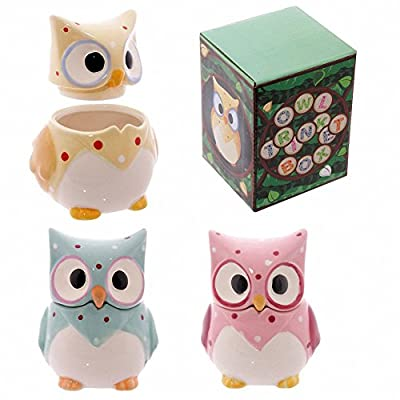 Yellow Ceramic Polka Dot Owl Trinket Box