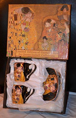 Gustav Klimt Espressotassen Der Kuss 6teilig Porzellan (Schwarz)
