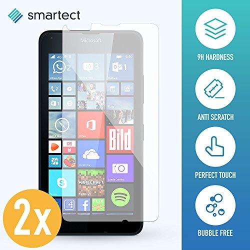 SmarTect 2X Protector de Pantalla de Cristal Templado para Microsoft Lumia 640 Lámina Protectora Ultrafina de 0,3mm   Vidrio Robusto con Dureza 9H y Antihuellas Dactilares