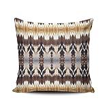 Fanaing Tribal Geometrische Seite Braun Unterstützung Kissenbezüge Home Sofa Dekorative 45,7x 45,7cm Baumwollleinen, Quadratisch Decor Kissen einseitig Bedruckt