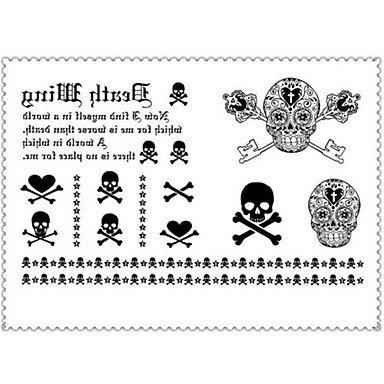 Adesivi umani di morte di scheletro del tatuaggio tatuaggi temporanei
