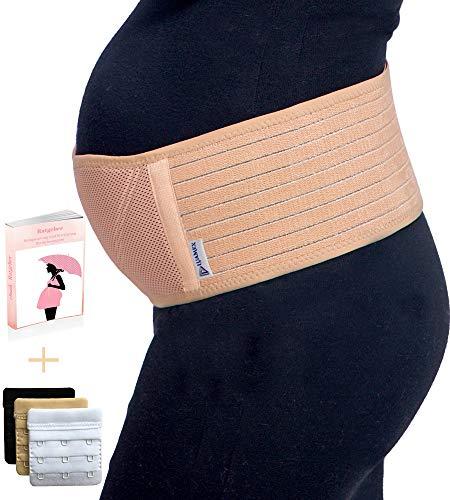 Luamex® Schwangerschaftsgürtel - Bauchband Schwangerschaft - Schwangerschaftsgurt in Verstellbarer Größe - Bauchstütze gegen Bauch- und Rückenschmerzen - Bauchgurt Schwangerschaft - eBook-BH-Extender