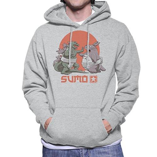 Cloud City 7 Godzilla Totoro Sumo Pop Men's Hooded Sweatshirt