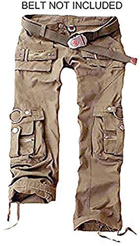 Juicy Trendz Frau Hosen Armee Militär Damen beiläufig Ladung keuchen Khaki XL