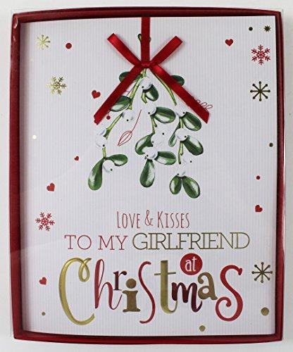 Groß Weiß 3D BOX Weihnachten Karte Freundin Partner Love Weihnachts Ihr (Fancy Partner Dress Ideen)