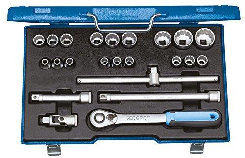 Preisvergleich Produktbild GEDORE Steckschlüssel-Satz 1/2 Zoll 23-Teilig, UD 8-32 mm, D 19 EMU-20