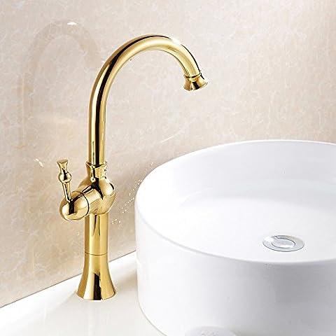 Luxury Classic European Golden Dragon de Oro Cobre Grifo Grifo lavabo Cuenca Etapa líder CSÁSZÁR