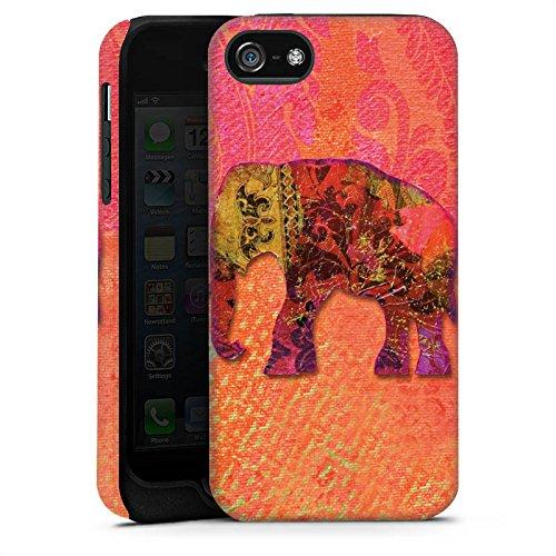 Apple iPhone X Silikon Hülle Case Schutzhülle Elefant Goa Indien Tough Case matt