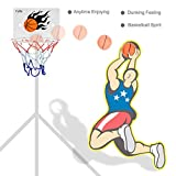 Milkee Innenminibasketballkorb beim Büro Zimmer Mini Basketball Brett Kinder Freizeit Sport mit Ball und Pumpe - 6