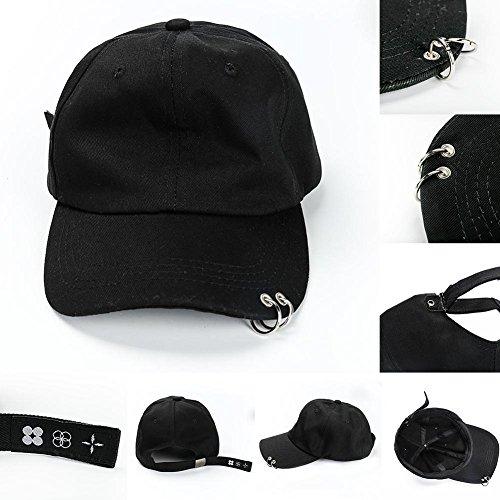 Bestomrogh Kpop BTS Jimin Anhänger Baseball Cap Armband Ohrringe Halskette Fan Karten H01-casquette de Baseball