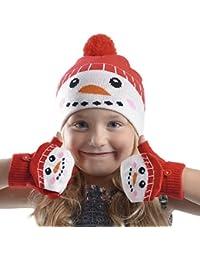 Rjm Bonnet de Noël pour enfant bonnet et moufles Gants