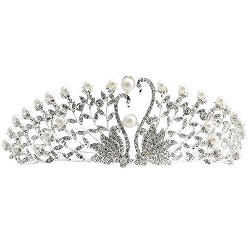 XPY&DGX Bridal Hochzeit Ballsaal Haarnadel Haarschmuck,der Kopfschmuck der Braut Schwan Krone...