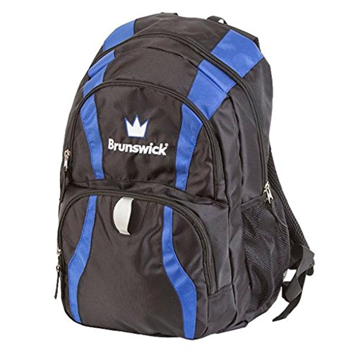 Brunswick CROWN Rucksack Bowling Bag, Schwarz/Royal