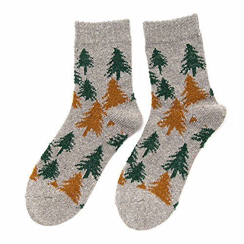 O-C Christmas Tree Cartoon Stocking Female Socks Comfortable Sock (Toddler Boy Fancy Dress Uk)