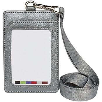 Textilband für Ausweishalter Schlüsselband mit Ausweishülle grau