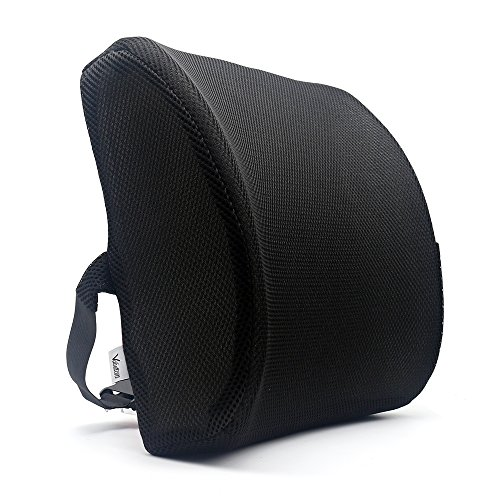 Valuetom Premium apoyo lumbar almohada–Espuma de memoria Lumbar cojín de apoyo para su casa, silla de oficina, coche y–nuevo diseño ergonómico de Memory Foam con tejido de malla Cool
