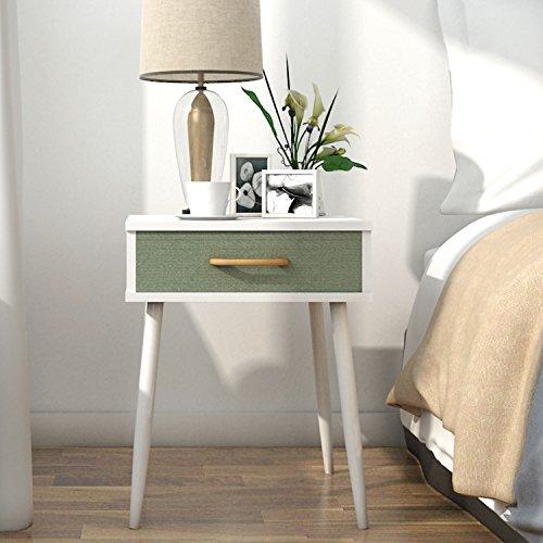 Lifewit tavolino divano giardino caffè tè salotto side table nightstand con cassetta,bianco